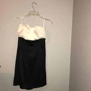 Black and white dress.